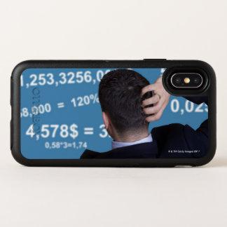 Hinteres Porträt eines Geschäftsmannes verwirrt OtterBox Symmetry iPhone X Hülle