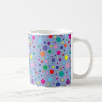 Hintergrund Clr der Polka-Dots Serenity Kaffeetasse