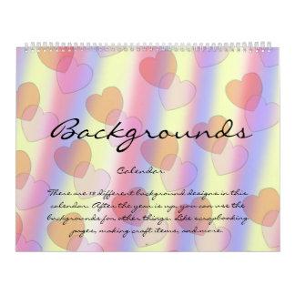 Hintergrund-Kalender 1 Abreißkalender