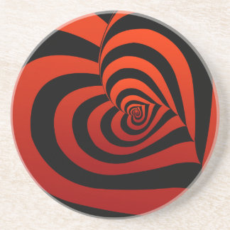 Hintergrund mit roten Herzen Getränkeuntersetzer