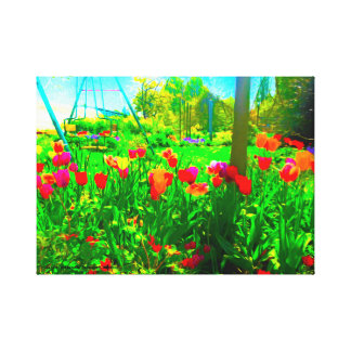 Hinterhof-Garten Leinwanddruck