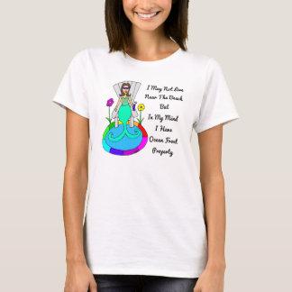 """Hinterhof-Meerjungfrau """"ich kann möglicherweise T-Shirt"""