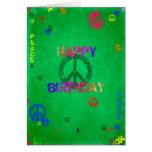 Hippie-alles- Gute zum Geburtstagkarte Karte