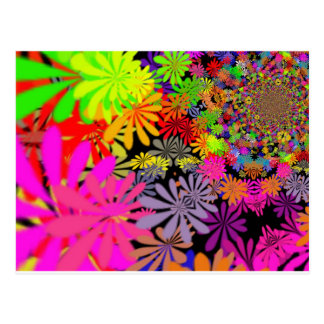 Hippie-Blumen-Entwurf Postkarte