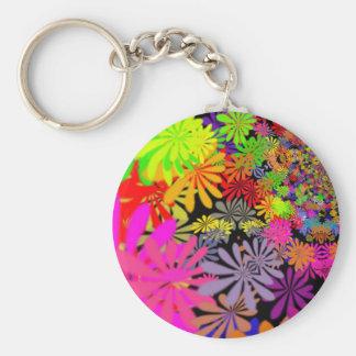 Hippie-Blumen-Entwurf Schlüsselanhänger