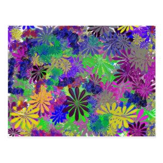 Hippie-Blumen-Power-Entwurf Postkarte