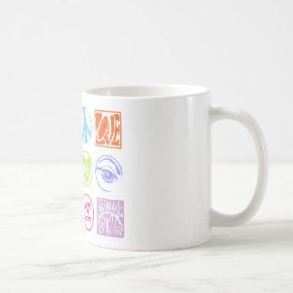 Hippie-Briefmarken Kaffeetasse