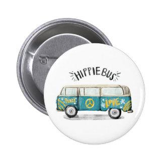 Hippie-Bus-Knopf Runder Button 5,7 Cm