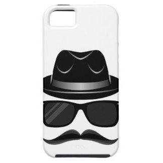 Hippie frais avec la moustache, le casquette et coques iPhone 5 Case-Mate