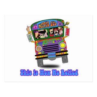 Hippie-Schulbus Postkarte
