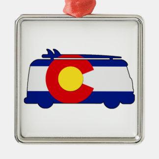Hippie Van - Colorado Silbernes Ornament