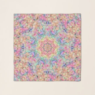 Hippie-Vintager Kaleidoskopchiffon-Schal Schal