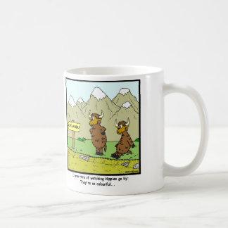 Hippies: Yak-Cartoon Kaffeetasse