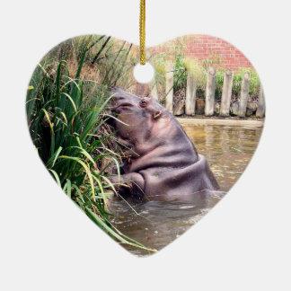 Hippo_Determination, _ Keramik Herz-Ornament