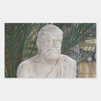 Hippokrates Rechteckiger Aufkleber