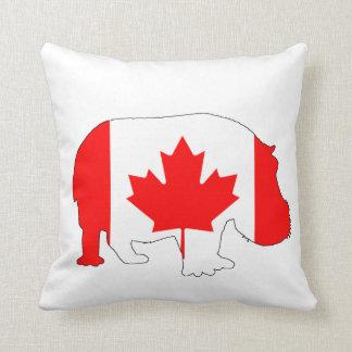 Hippopotamus Kanada Kissen
