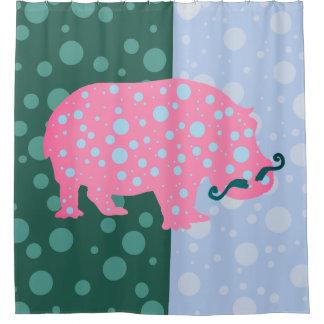 Hippopotamus punktiert Trendy Hipster-Duschvorhang Duschvorhang