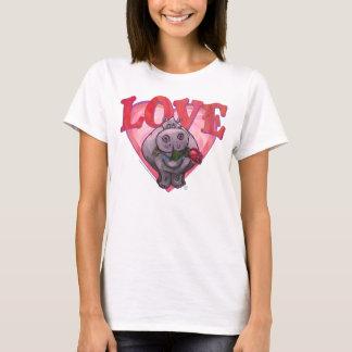 Hippopotamus-Valentinstag T-Shirt