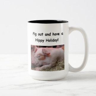 Hippy Feiertags-Tasse Zweifarbige Tasse