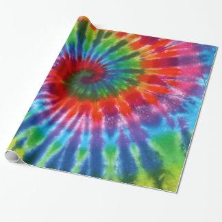 Hippy FriedensRetro 60er gefärbte Krawatte Geschenkpapier