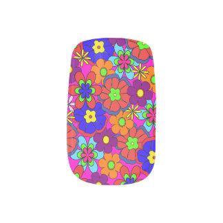 Hippy Retro Blumen Minx Nagelkunst