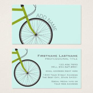 Hipster-Fahrrad-Rad mit individuellem Namen Visitenkarte