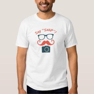 Hipster-Fotograf sagen Verschluss T-shirts