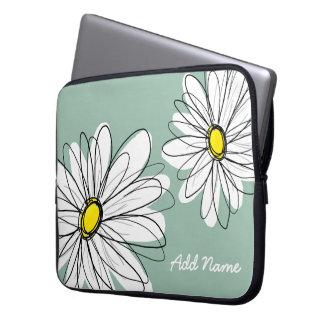 Hipster-Gänseblümchen, das in den trendy Farben ze Laptopschutzhülle