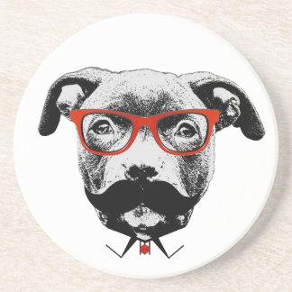 Hipster-Gruben-Stier-Terrier Untersetzer