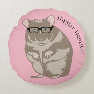 Hipster-Hamster-Kissen Rundes Kissen