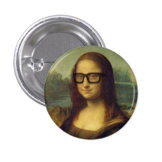 Hipster Mona Lisa in den Hipster-Gläsern Da Vinci Runder Button 2,5 Cm