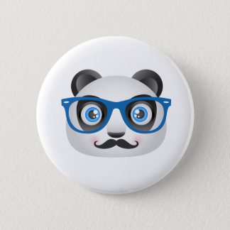 Hipster-Panda-Knopf Runder Button 5,7 Cm