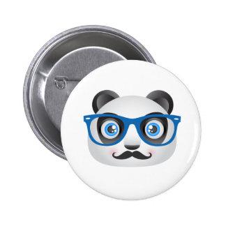 Hipster-Panda-Knopf Runder Button 5,7 Cm