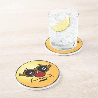 Hipster-Smiley Grumpey Getränke Untersetzer