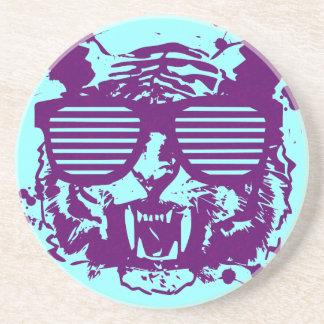Hipster-Tiger Untersetzer