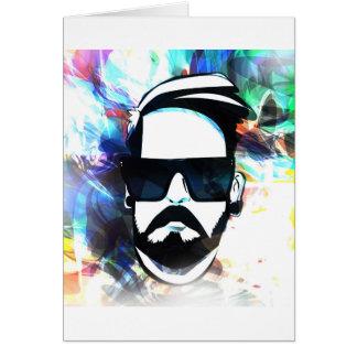 Hipster-Typ Karte
