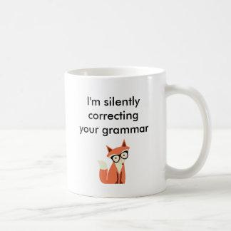 Hipsterfox-Grammatik Kaffeetasse