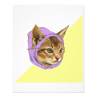 Hipsterkitty-Katzen-Ratetier Meme 11,4 X 14,2 Cm Flyer