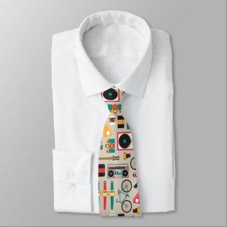 Hipsterrific Hipster-Sache-Muster (Cinereous) Krawatte