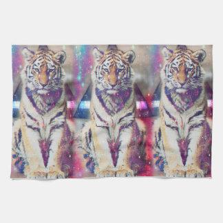 Hipstertiger - Tigerkunst - Dreiecktiger - Tiger Geschirrtuch