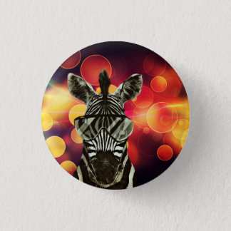 Hipsterzebra-Art Runder Button 2,5 Cm