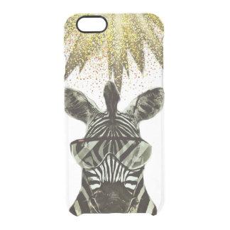 Hipsterzebra-Art-Tier Durchsichtige iPhone 6/6S Hülle