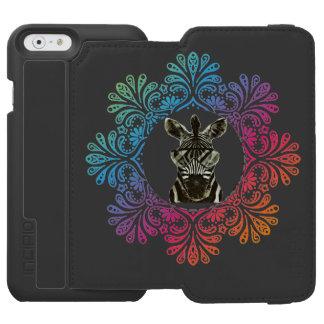 Hipsterzebra-Art-Tier Incipio Watson™ iPhone 6 Geldbörsen Hülle