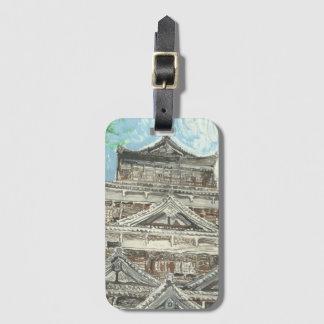 Hiroshima-Schloss-Gepäckanhänger mit Kartenhalter Gepäckanhänger