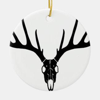 hirsch deer stag night skull schädel geweih antler keramik ornament