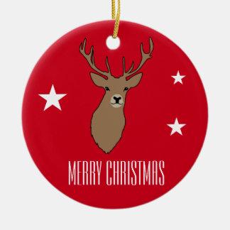 Hirsch-frohe Weihnacht-Verzierungs-Dekoration Keramik Ornament