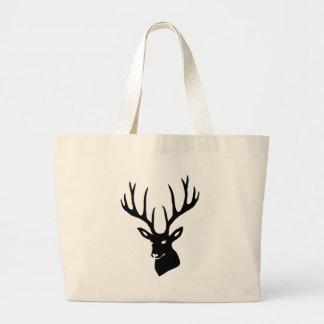 Hirsch Geweih Hirschgeweih Wild Elch Reh Stag Deer Jumbo Stoffbeutel