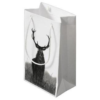 Hirsch-Rotwild-Geschenk-Taschen-Größen-kleines Kleine Geschenktüte