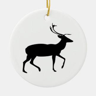 Hirsch-Silhouette Keramik Ornament