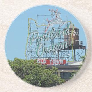 Hirsch-Zeichen Portlands Oregon Getränkeuntersetzer